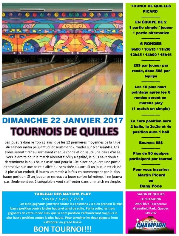 Tournoi Picard en équipe de 2 @ Longueuil | Québec | Canada